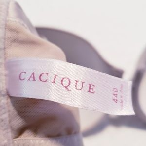 Cacique Intimates & Sleepwear - Cacique 44D Silver Padded Plunge Bra Lace EUC